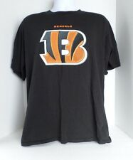 Men's Black NFL Cincinnati Bengals Short Sleeved T-Shirt size-L 100% Cotton