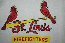 St. Louis Fire Dept Soft Thin Rayon TriBlend t shirt L/Xl Cardinals Off Centered