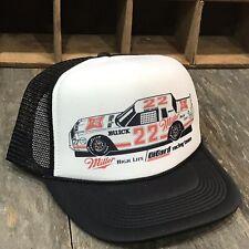 Buick Miller High Life Beer Bobby Allison Trucker Hat! Vintage NASCAR Snapback