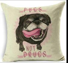 Cartoon Colourful Dog Pink Pug Decorative Pillows Cushion Use For Home