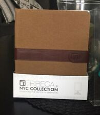Tribeca Ipad Case Stylish Brown Leather Strap NYC Collection