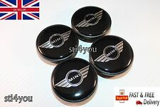4x Mini  Wings 54mm  ALLOY WHEEL CENTRE HUB CAPS Emblem Badge Cooper
