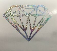 "15"" Diamond Decal Car Window Vinyl Jewel Love Laptop Sticker HOLOGRAPHIC Colors"