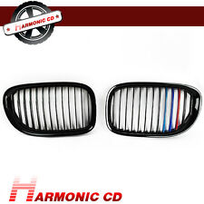 Fits BMW 09-15 F01 F02 730d 740i 750i Jet Black Metal Color Front Grille Replace
