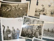 10 Fotografie dal Fronte GUERRA 1936 Soldati Navi in Porto Monti Parata Bandiere