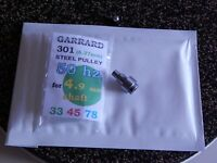 Precision steel puley for turntable - fit Garrard 301 50hz mains 0