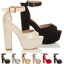 Sandalias con plataforma de mujer sintético