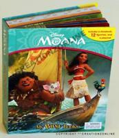 MOANA MY BUSY BOOKS 12 FIGURES + PLAY MAT KIDS BOOKS CHILDRENS STORY DISNEY