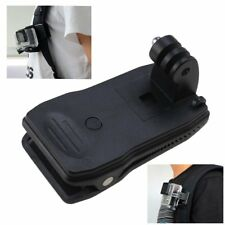 360 Degree Rotation Clip Mount for GoPro Camera Backpack Hat Strap Fast Clamp