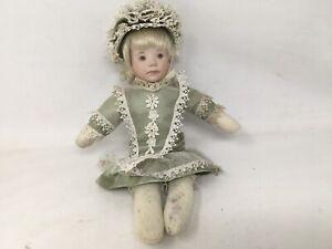 """Julia Rueger Rosebud Baby Porcelain Doll 12"""""""