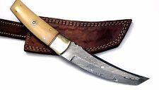 Beautiful Custom hand made Damascus steel Tanto Hunting knife.  (NE-57071)