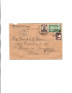 Pakistan 1949 registered to Canada