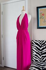 Jill Stuart Long Maxi Halter Dress Gown Dress Pink Sz 4 Formal Wedding Party