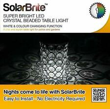 Solar Brite Outdoor Solar Crystal Table Beaded Light w/ White & Colour Change