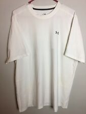 Under Armour Heat Gear Mens Large White Athletic Shirt. Rts