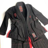 Sanabul Gi Youth K3 Kids Black Red BJJ MMA UFC training Uniform Pants Coat Top