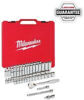 Milwaukee Ratchet Socket Mechanics Tool Set 3/8 in. Drive SAE/ Metric (56-Piece)