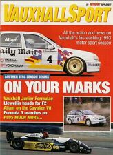 Vauxhall Motor Sport 1993 Preview Supplement UK Market Brochure Autosport