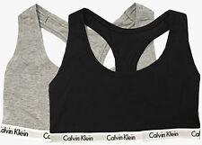85ea4a04d73 NEW CALVIN KLEIN Womens Bralette Sports Bra Top SET OF 2 Gray Black S