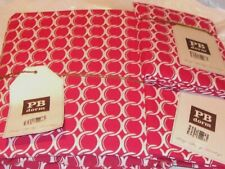 Pottery Barn Rings Full/Queen Duvet Cover + 2 Pillow Shams Std 26x20 Hot Pink