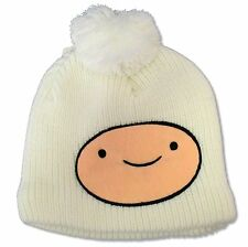 "ADVENTURE TIME"" FINN"" WHITE KNIT BEANIE NEW OFFICIAL ADULT"