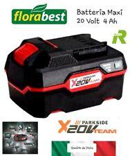 Batteria Maxi al Litio Li-ion Parkside Florabest per Trapano X Team 20 Volt 4 Ah