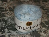 NEW LION BRAND WINTER NIGHTS Bluetiful Lt Blue Cake Yarn 4 Medium 100 g 251 106