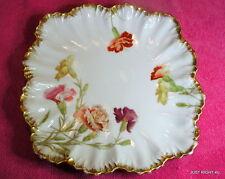 "Frederic Lanternier AL (Floral) 9 3/4"" SQUARE SCALLOPED PLATE / BOWL Exc"
