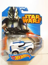 Star Wars Hotwheels -- 501st Clone Trooper Car -- Die Cast, 2014