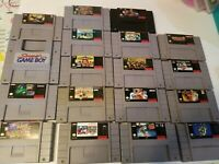 Super Mario World and 17 other great games lot (Super Nintendo, 1991) Ships Fast