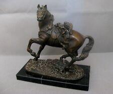 2758*  cheval bronze napoléon signé sur la terrasse à déchiffrer ?