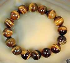 8mm Natural African Roar Natural Tiger Eye Round Beads bracelet 7.5''