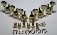 Guitar Parts Thumbwheel Lock - LOCKING - 3 Per Side 3x3 - TUNERS SET - GOLD