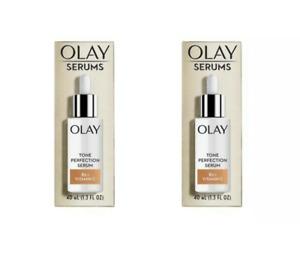 2 Pack Olay Serums Tone Perfection Serum B3 + Vitamin C 1.3 oz Each
