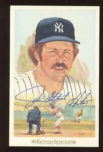1989 Perez-Steele Celebration CATFISH HUNTER Signed JSA/LOA New York Yankees