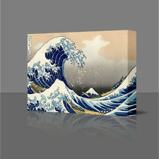 16 Inch Hokusai - Below The Great Wave Large Canvas Art Picture Print Japan Fuji