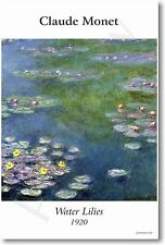 Waterlilies 1920 - Claude Monet - NEW French Impressionist Fine Art Print POSTER