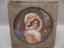 Miniature époque XVIII ème siècle datée 1789 : portrait d'une lady Anglaise