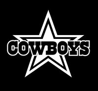 Dallas Cowboys Star with text Sticker Vinyl Decal / Sticker!! Die Cut