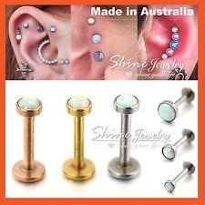 Opal Stud Ring Bar Lip Ear Earring Nose Helix Tragus Piercing Internal Threaded
