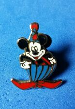 Mickey Mouse Dressed as a Clown Blue and Red French Disney Pin
