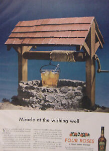 1944 Esquire Original Advertisement WWII Era Four Roses Whiskey Knox Hats
