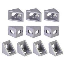 10x Aluminum Right Angle Bracket 90 Degre Double Side L Shape Corner Joint Brace