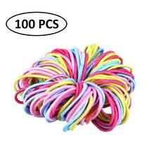 100pcs Small Hair Elastic Rope Bands Ties Ponytail Holders Braid Plait Hairband