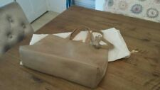 RARE BEIGE RADLEY LARGE TOTE BAG WITH ORANGE DETAIL, LONG STRAP, DOG & DUST BAG