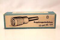 Neumann Tuchel-Kupplungssteckdose NS-124 - 12polig - VEB Mikrofontechik Gefell