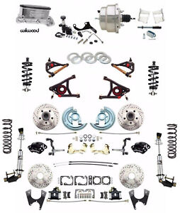 Chevelle Wilwood Disc Brake Kit Front  Rear Coil Overs Control Arm Black Caliper