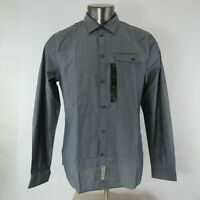 Calvin Klein Jeans L Large Shirt Modern Fit Button Down Front Long Sleeve Gray