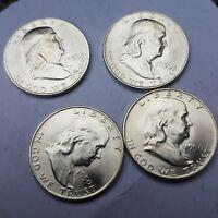 1950-D  Franklin Half Dollar half BU Uncirculated, 1 Coin From Roll