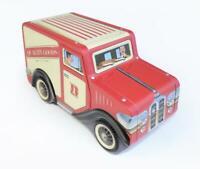 "Tin Bread Box Storage Box "" Delivery Van Red "", 21,5 cm Jewelry Box, New"